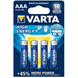 BLISTER 4 PILES LR03 VARTA HIGHT ENERGY  1,5 VOLT