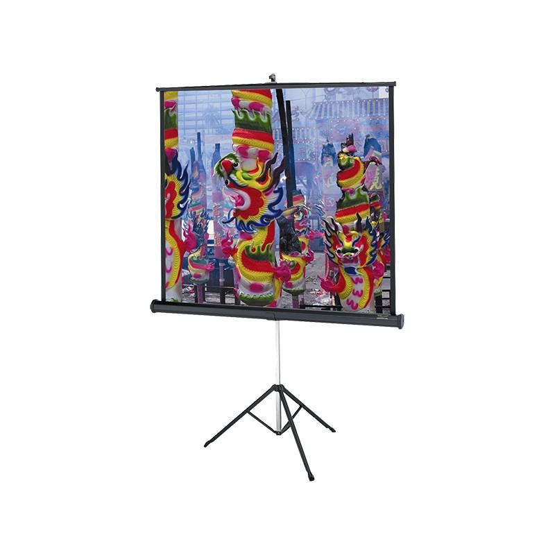 ecran blanc mat 151 x 151 sur pied prestacom audiovisuel. Black Bedroom Furniture Sets. Home Design Ideas