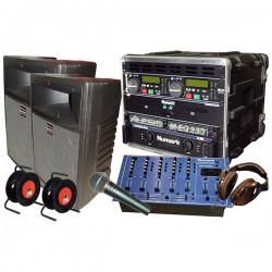 REGIE SONO DJ 200W + MIX + MIC + D.CD