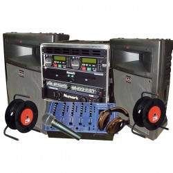 REGIE SONO DJ 300W + MIX + MIC + D.CD