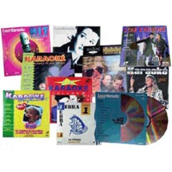 DISQUE CDV VIDEO LASER KARAOKE - LOT DE 10